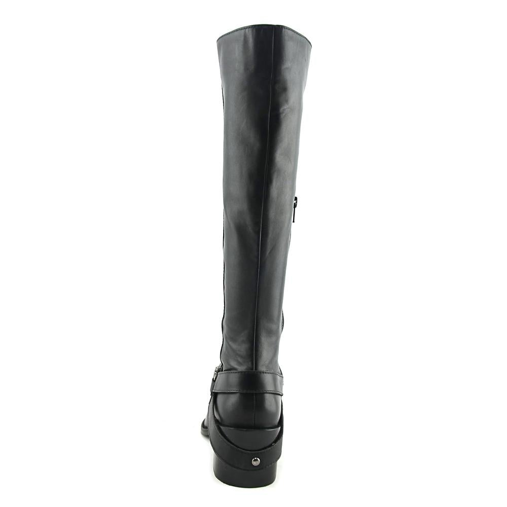 7732a04a55b Shop Design Lab Lord   Taylor Adelienne Women Leather Black Knee High Boot  - Free Shipping Today - Overstock - 19553678
