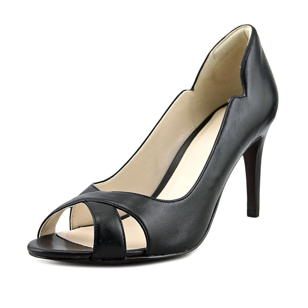 9d09939dc3e2 Shop Cole Haan Jacinda GD OPT Peep-Toe Synthetic Heels - Free ...