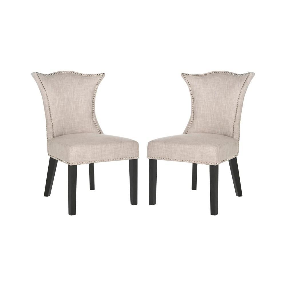 Shop Safavieh Mcr4717 Set2 Ciara 22 6 Inch Wide Birch Accent Chairs