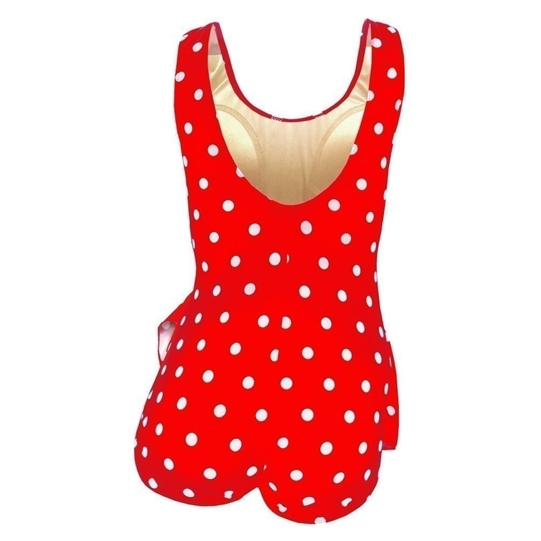 eb7a56ce535 Shop Deep Blue Womens Red White Dot Front Sarong One Piece Plus Size  Swimsuit - Free Shipping Today - - 21711392