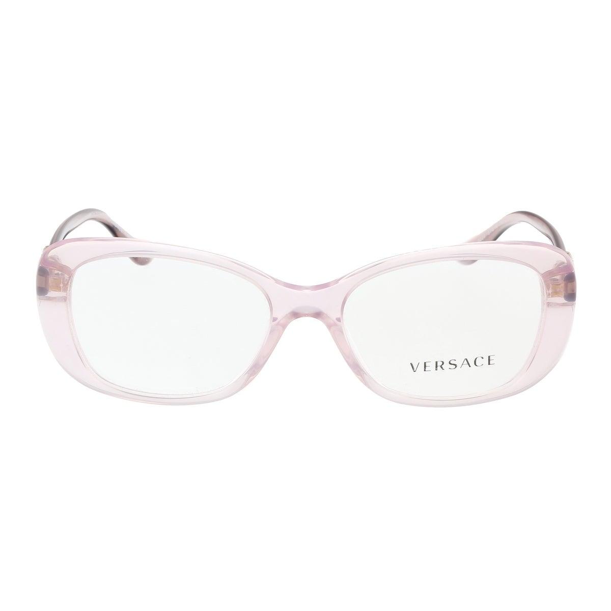 2471a1d4b75b Shop Versace VE3234B 5223 Transparent Lilac Rectangle Optical Frames -  51-16-140 - Free Shipping Today - Overstock - 17768361
