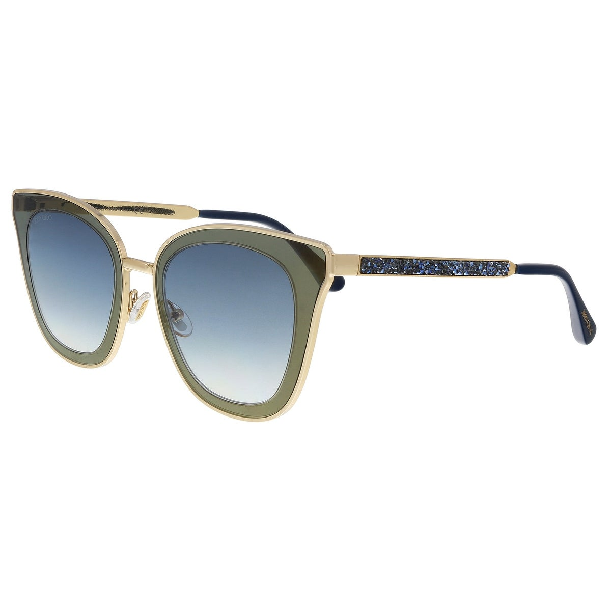 135db367e09d Shop Jimmy Choo LORY/S 0KY2 Gold/ Blue Cat Eye Sunglasses - 49-23 ...