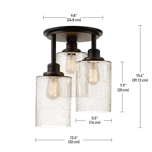 Globe electric 65904 annecy 3 light semi flush ceiling light with globe electric 65904 annecy 3 light semi flush ceiling light with seeded glass s free shipping today overstock 25548869 aloadofball Images
