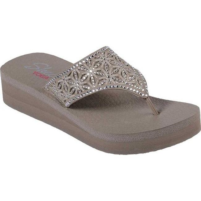 d631ddcd5b22 Shop Skechers Women s Vinyasa Glass Star Thong Sandal Taupe - On ...