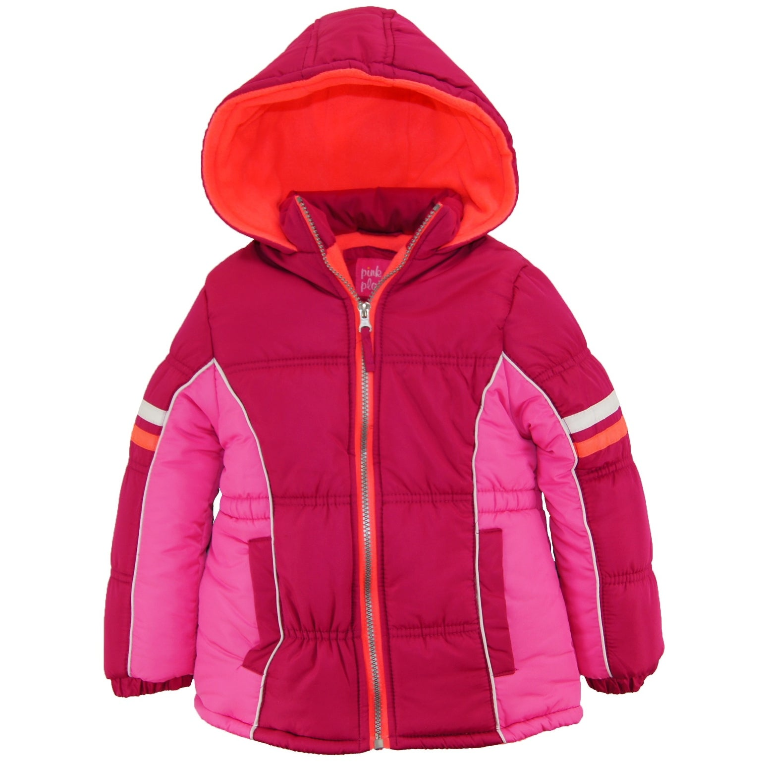 d59bfc66897 Shop Pink Platinum Girls Colorblock Active Fleece Lined Winter Coat Puffer  Jacket - Free Shipping On Orders Over $45 - Overstock - 19427865