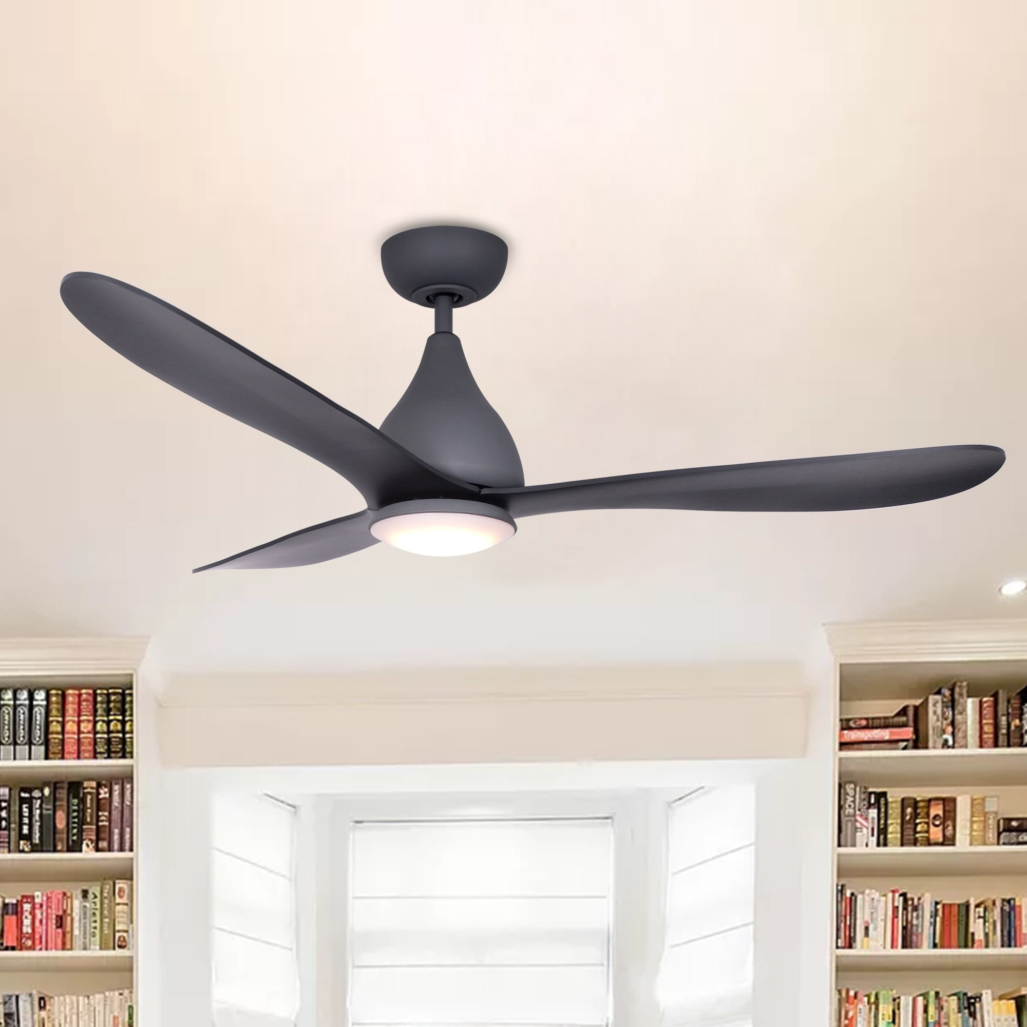 Shop charcoal wisp 48 inch ceiling fan with 3 blades on sale shop charcoal wisp 48 inch ceiling fan with 3 blades on sale free shipping today overstock 21358873 aloadofball Images