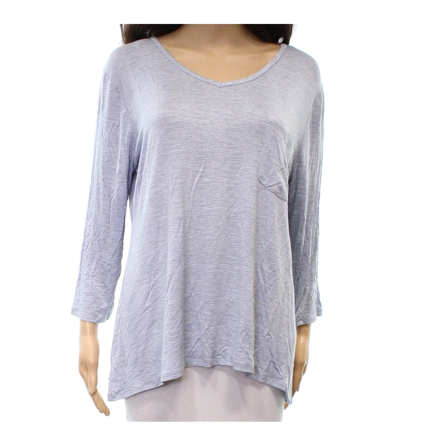 4c377668 Shop Nuit Rouge NEW Blue Women's Size Large L Basic Tee Pocketed Shirt - Free  Shipping On Orders Over $45 - Overstock.com - 20588027