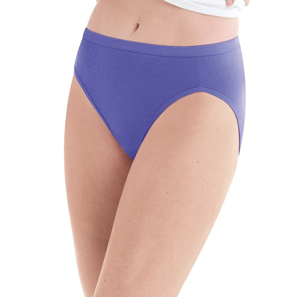 d6231a89ad71 Shop Hanes Women's No Ride Up Cotton Hi-Cut Panties 6-Pack - Size - 6 -  Color - Asst/Solid - Assorted - Free Shipping On Orders Over $45 -  Overstock - ...