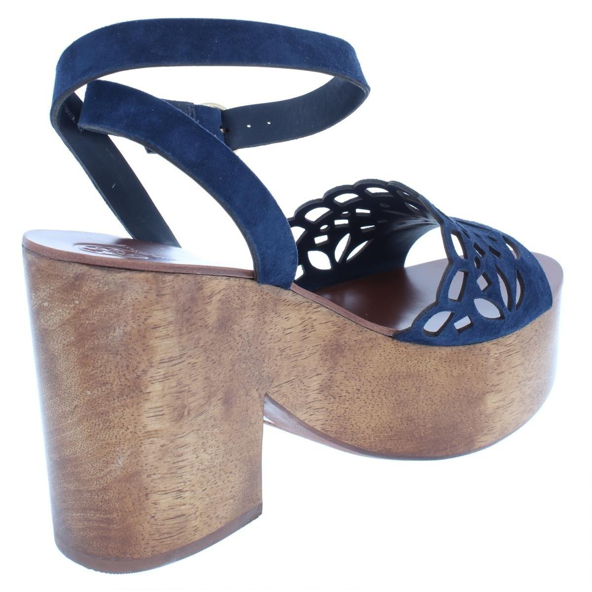 de357b488 Shop Tory Burch Womens May Platform Sandals Suede Block Heel - Free  Shipping Today - Overstock - 26049713