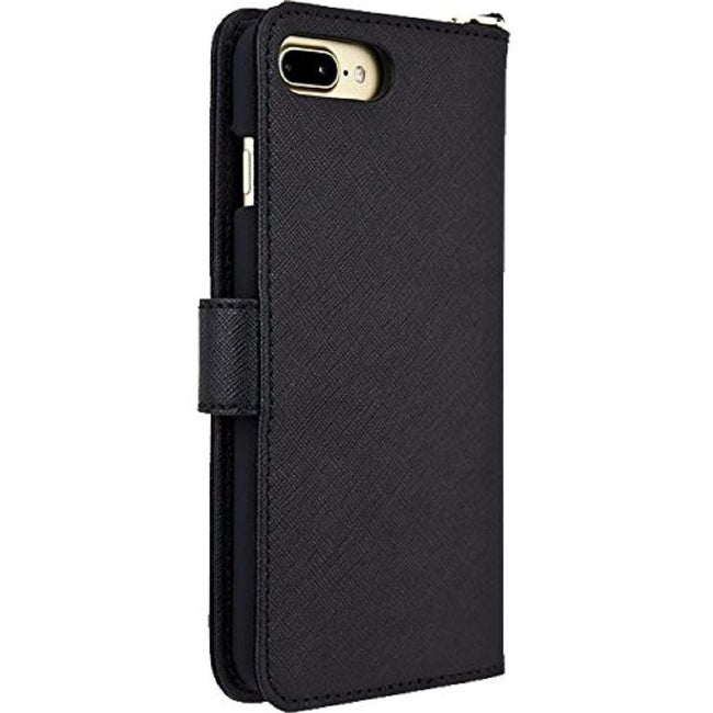 bb0ccc2e1718 Shop Michael Kors Saffiano Leather Folio Phone Case for iPhone 8 Plus   iPhone  7 Plus - Black - Free Shipping Today - Overstock - 22903230