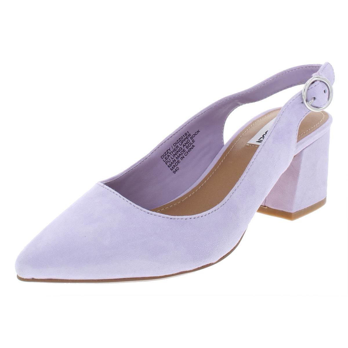 297617ab167 Steve Madden Womens Dizzy Slingback Sandals Block Heel Pointed Toe