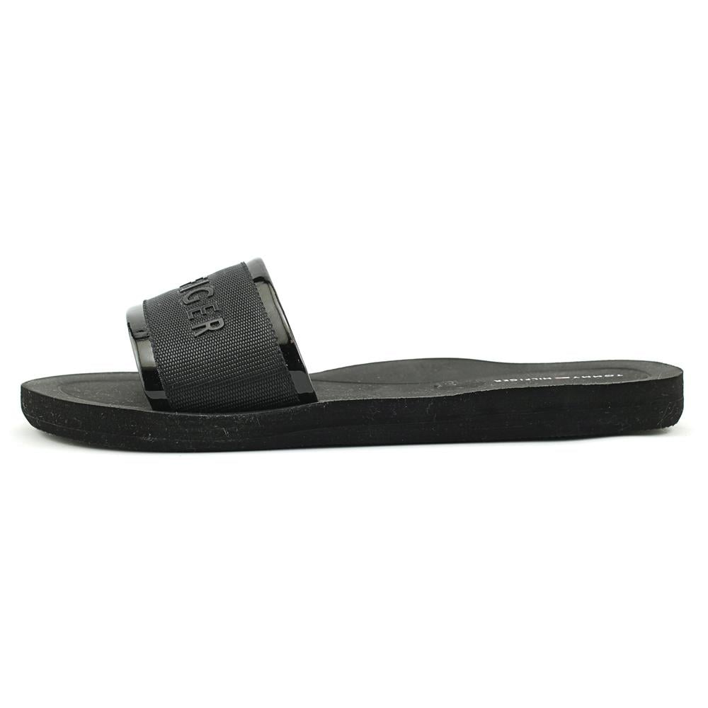 f4d20b7a8154 Shop Tommy Hilfiger Mery Women Open Toe Canvas Black Slides Sandal - Free  Shipping On Orders Over  45 - Overstock - 19685038