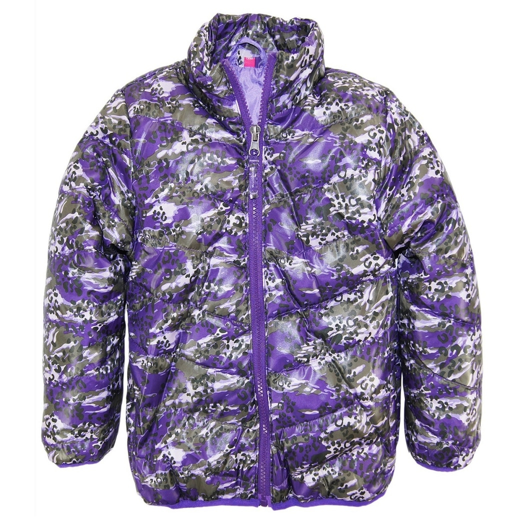 38d417642 Shop Rugged Bear Toddler Girls System Winter Coat Camo Cheetah Quilted  Jacket size 4T - Free Shipping On Orders Over $45 - Overstock - 25364956