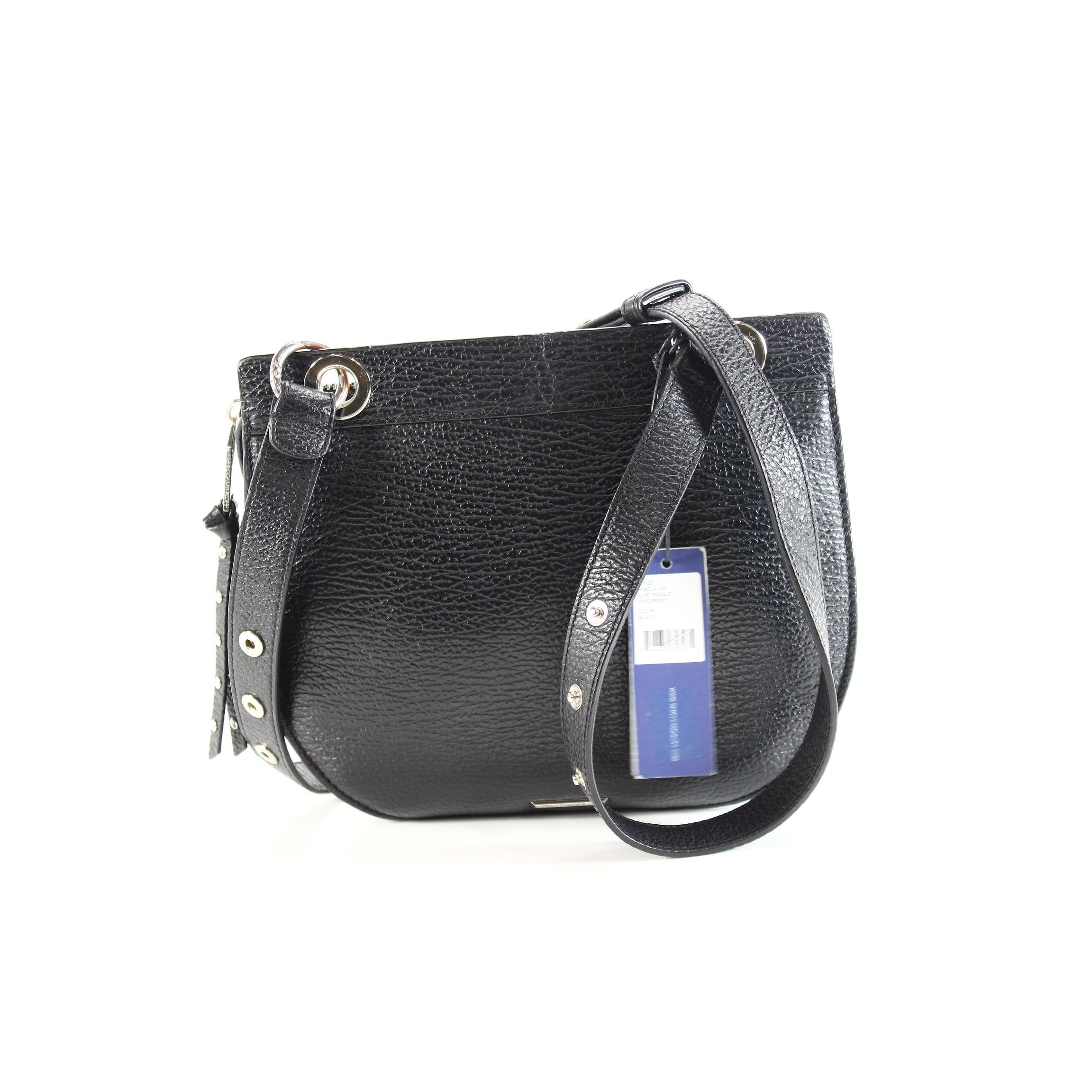 3daecce16c Shop Rebecca Minkoff NEW Jane Saddle Black Crossbody Leather Handbag Purse  - Free Shipping Today - Overstock.com - 19844594