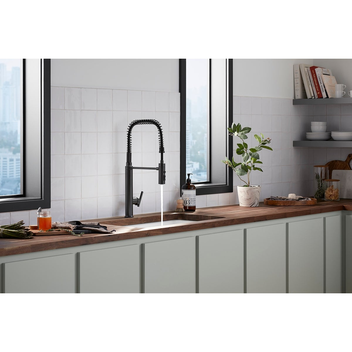 Kohler K 24982 Purist 1 5 Gpm Single Hole Pre Rinse Kitchen Faucet With Sweep Spray Docknetik And Masterclean Technologies