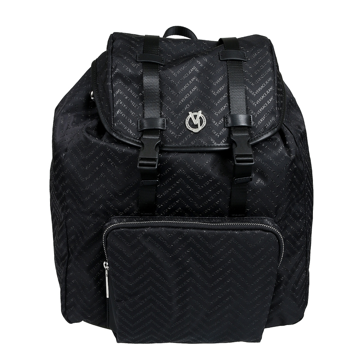 acb0f2b75c Shop Versace EE1YTBB30 E899 Black Backpack - 14-14-8.5 - Free Shipping  Today - Overstock - 26970268