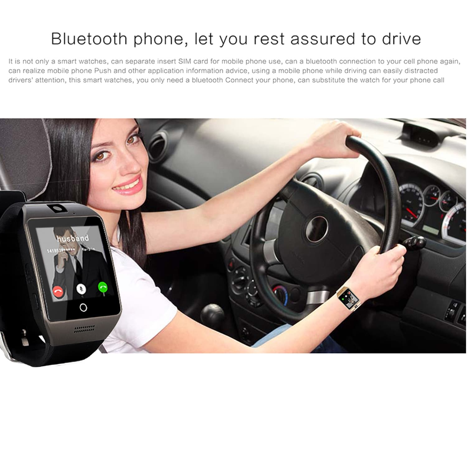 watches ios bluetooth cell phone iphone new samsung watch mate black for android smart