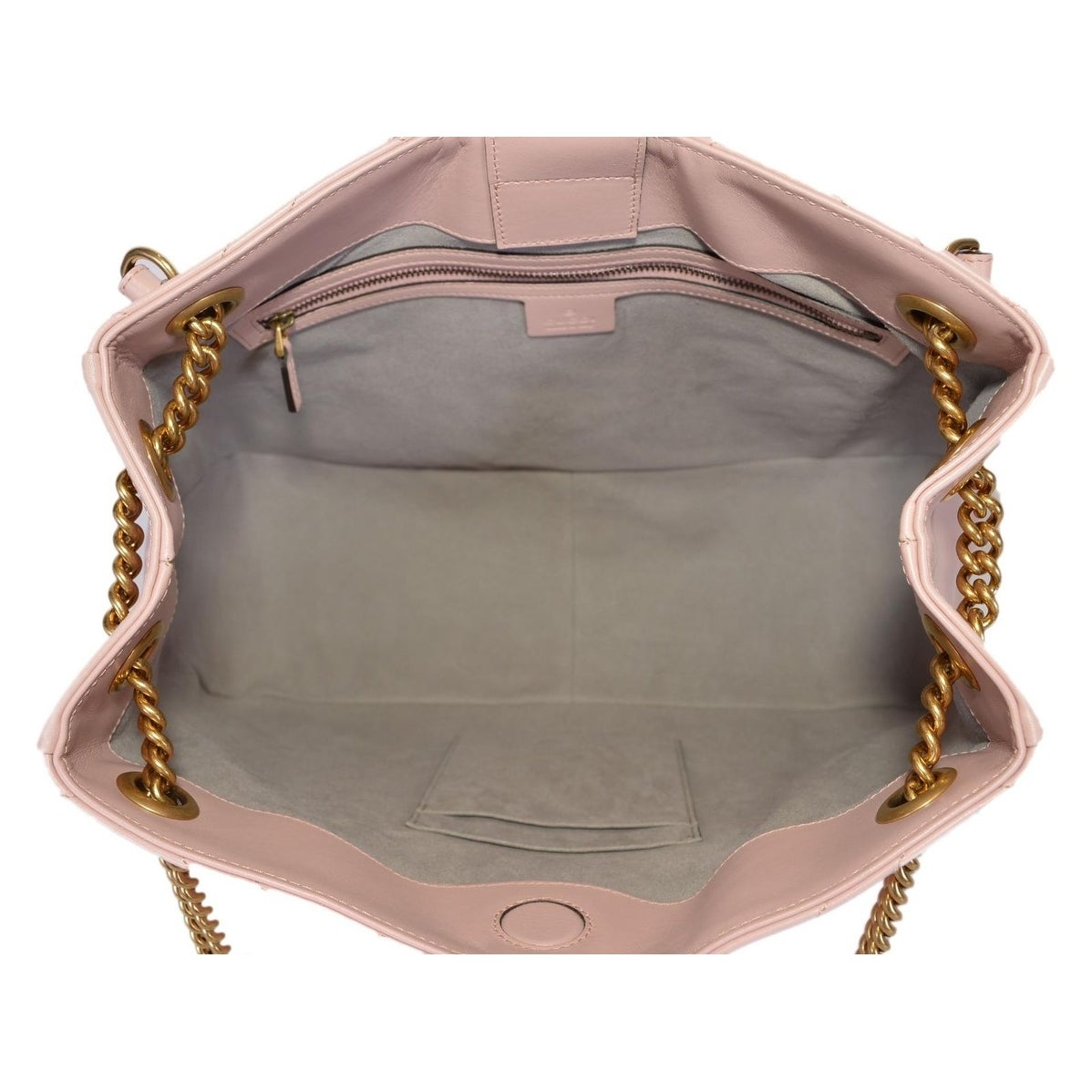 40b14bbca7a8 Shop Gucci Pink Chevron Leather Marmont GG Tote Purse Shoulder Bag - Free  Shipping Today - Overstock - 25461564