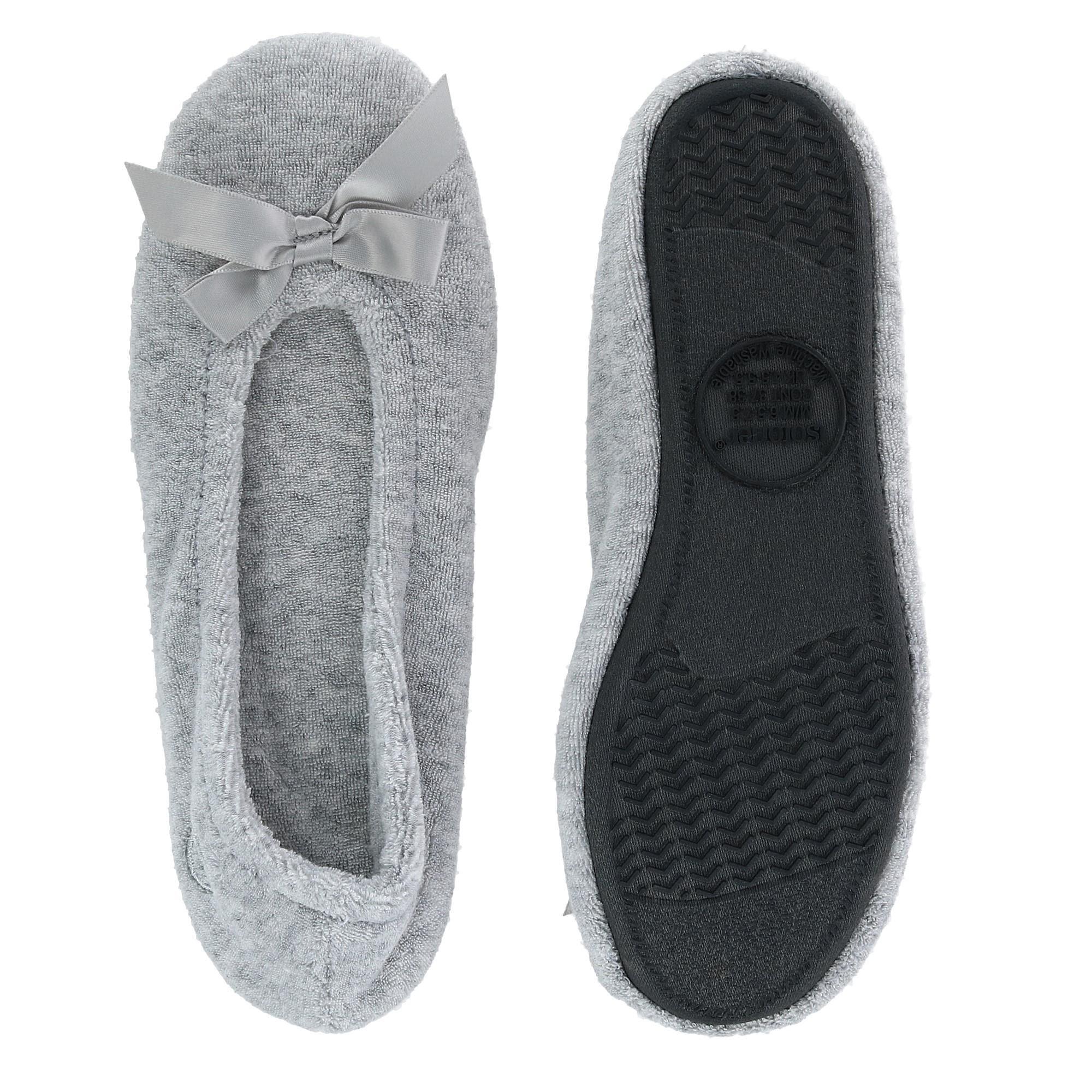 buy online 5502e c7f88 Isotoner Women's Terry Classic Ballerina Slippers