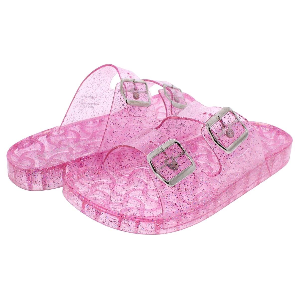 2425717ec2cb Shop Madden Girl by Steve Madden Womens Jezza Slide Sandals Jelly Glitter -  Free Shipping On Orders Over  45 - Overstock - 20731533