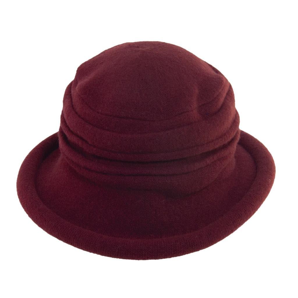 861dc25b4 Scala Collezione Women's Boiled 100% Wool Cloche Hat - Wine
