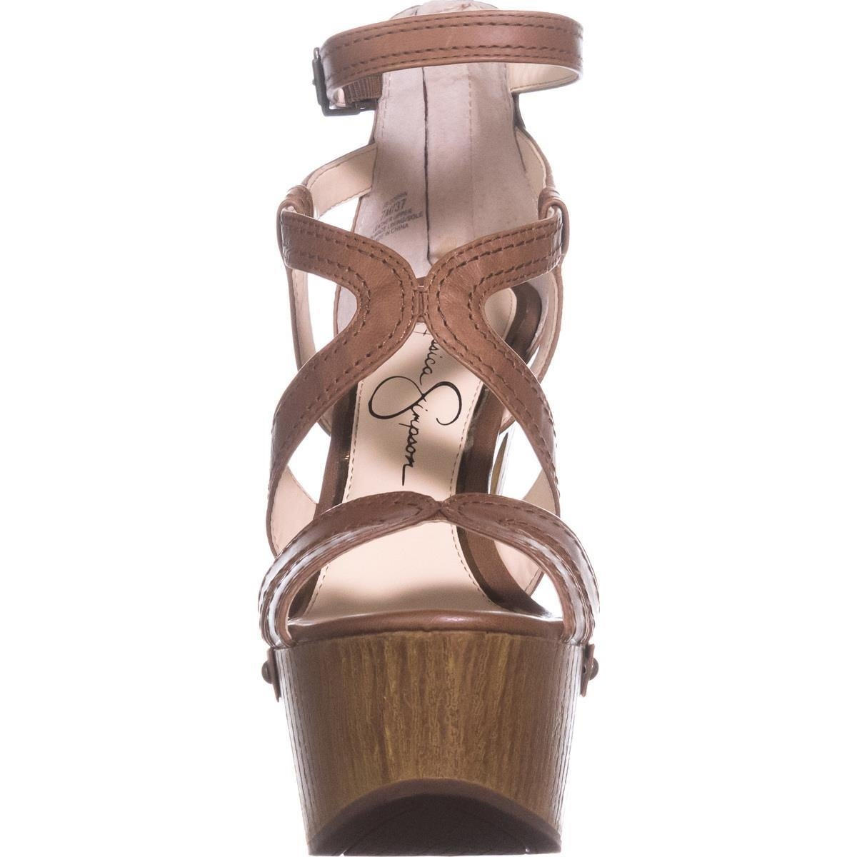 3d238f99f3 Shop Jessica Simpson Dorrin Platform Sandals, Burnt Umber - Free Shipping  Today - Overstock - 20814046