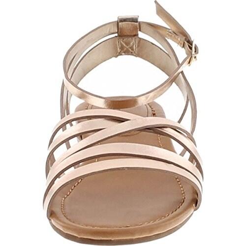 1b0edd6e2e Shop Breckelles EA54 Women Leatherette Open Toe Strappy Slingback Wrap  Sandal - Free Shipping On Orders Over $45 - Overstock - 19271023