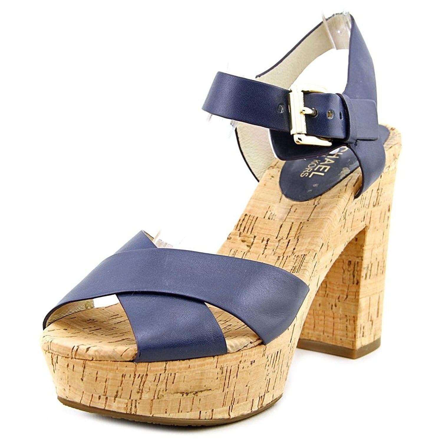 80c2269ca126 Shop MICHAEL Michael Kors Womens NATALIA PLATFORM Leather Open Toe Casual -  Free Shipping Today - Overstock - 14538136