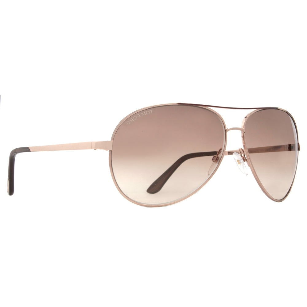 23a03a97c24 Shop Tom Ford Charles TF 35 772 Rose Gold Brown Gradient Aviator Sunglasses  - rose gold - 62mm-12mm-130mm - Free Shipping Today - Overstock - 14050872