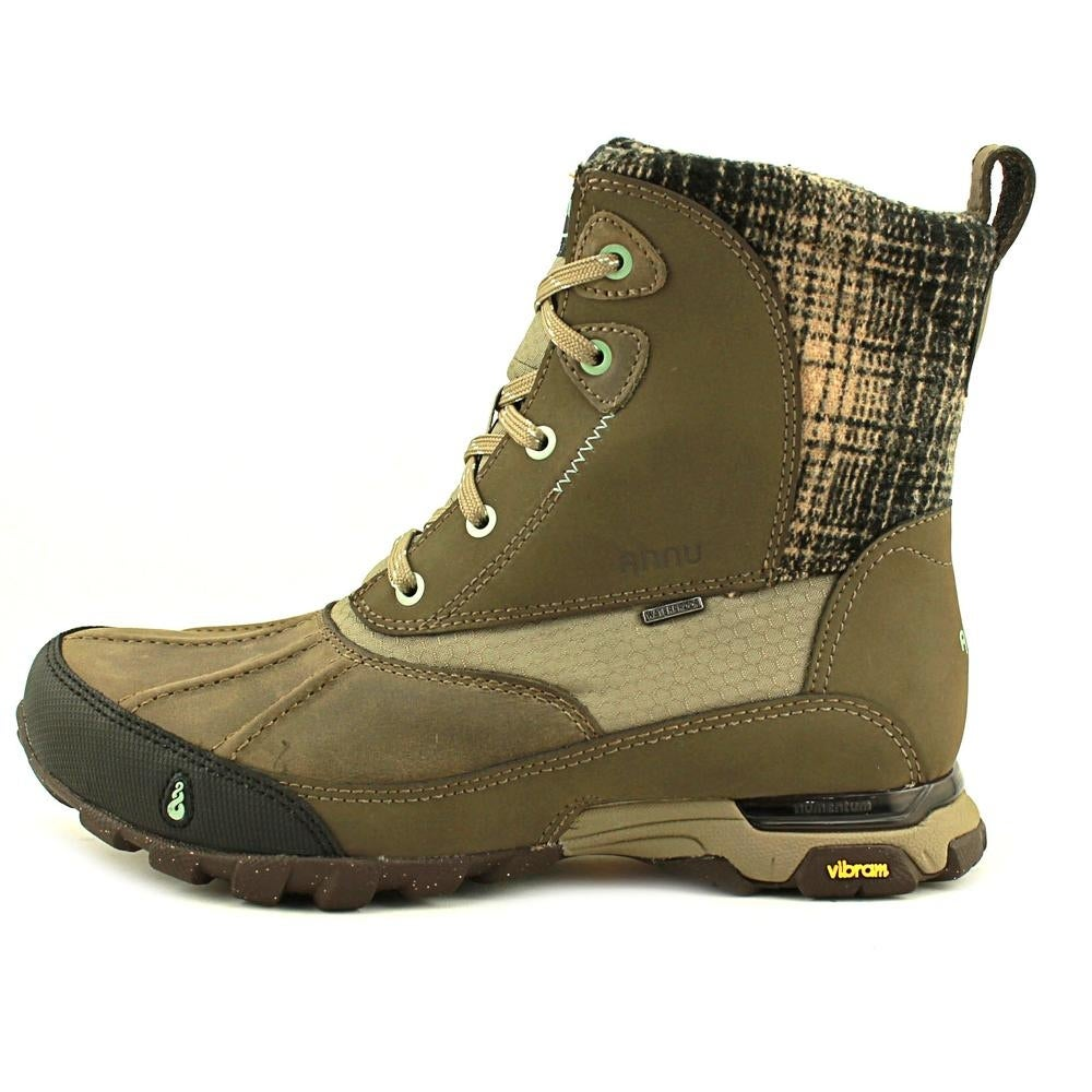 0090dbe0531 Ahnu Sugar Peak Insulated Wp Women Round Toe Synthetic Brown Snow Boot