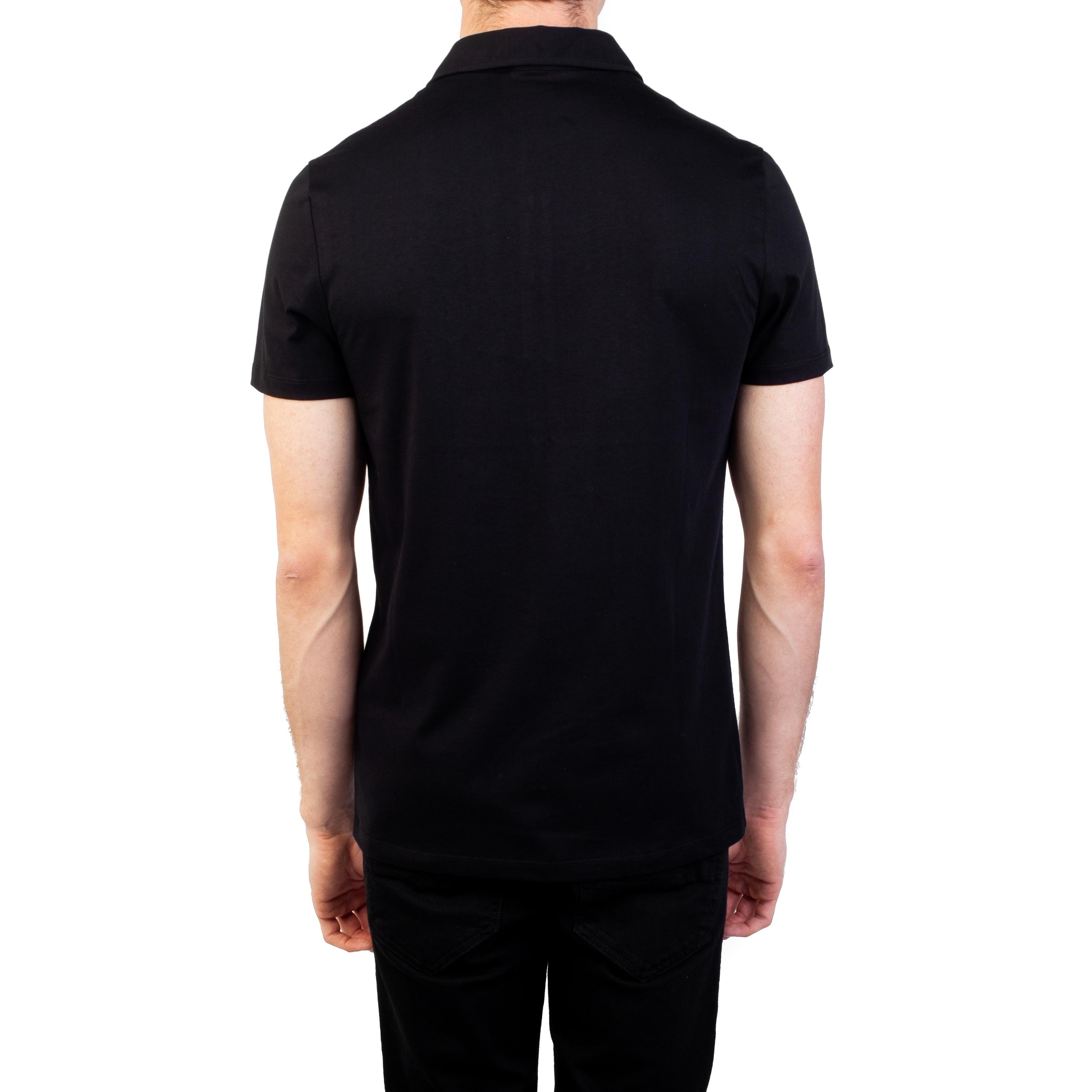 ca3b2ce0 Versace Collection Men's Pima Cotton Circular Medusa Polo Shirt Black