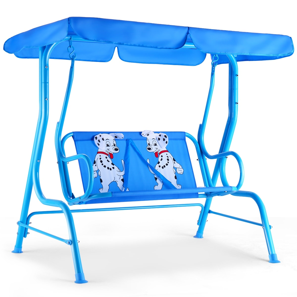 Kids Patio Furniture.Costway Kids Patio Swing Chair Children Porch Bench Canopy 2 Person Yard Furniture Blue