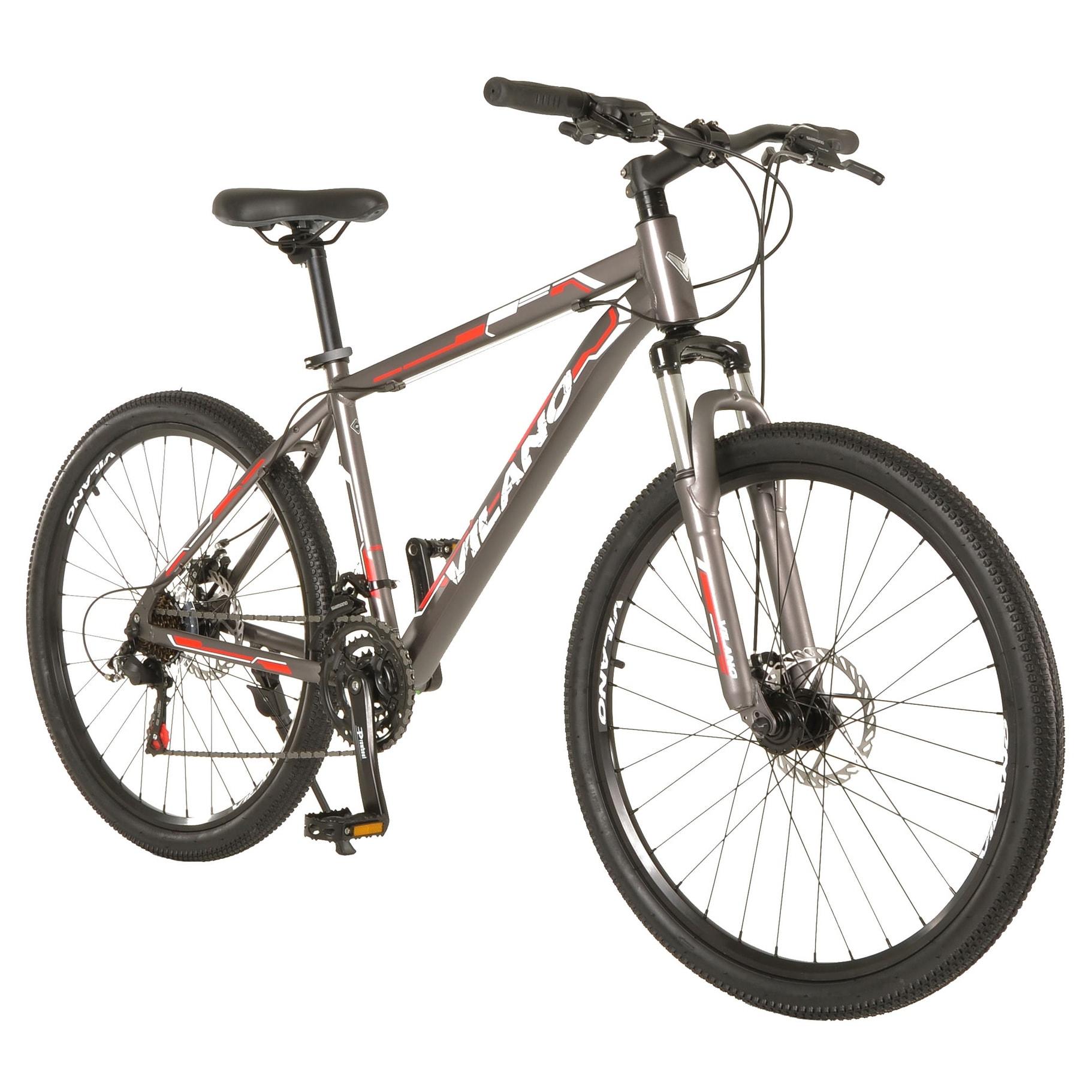 0fe11b42b Shop Vilano Ridge 1.0 Mountain Bike MTB 21 Speed with Disc Brakes - Free  Shipping Today - Overstock - 18072083