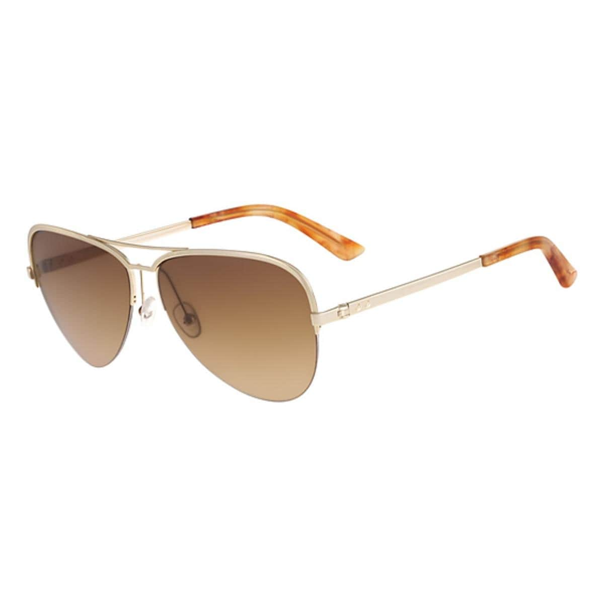 e743ab8e125a Shop Calvin Klein Collection Womens Aviator Sunglasses Semi Rimless  Oversized - Free Shipping On Orders Over $45 - Overstock - 15411844