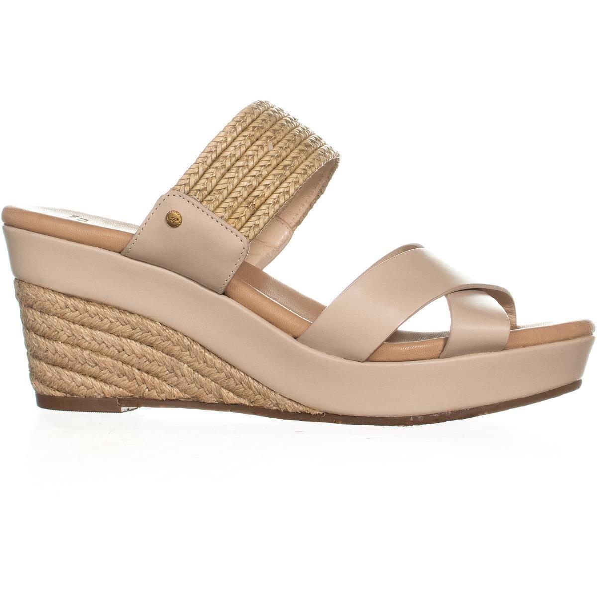 613d13a7892 UGG Adriana Wedge Mule Sandals, Horchata - 9 US / 40 EU