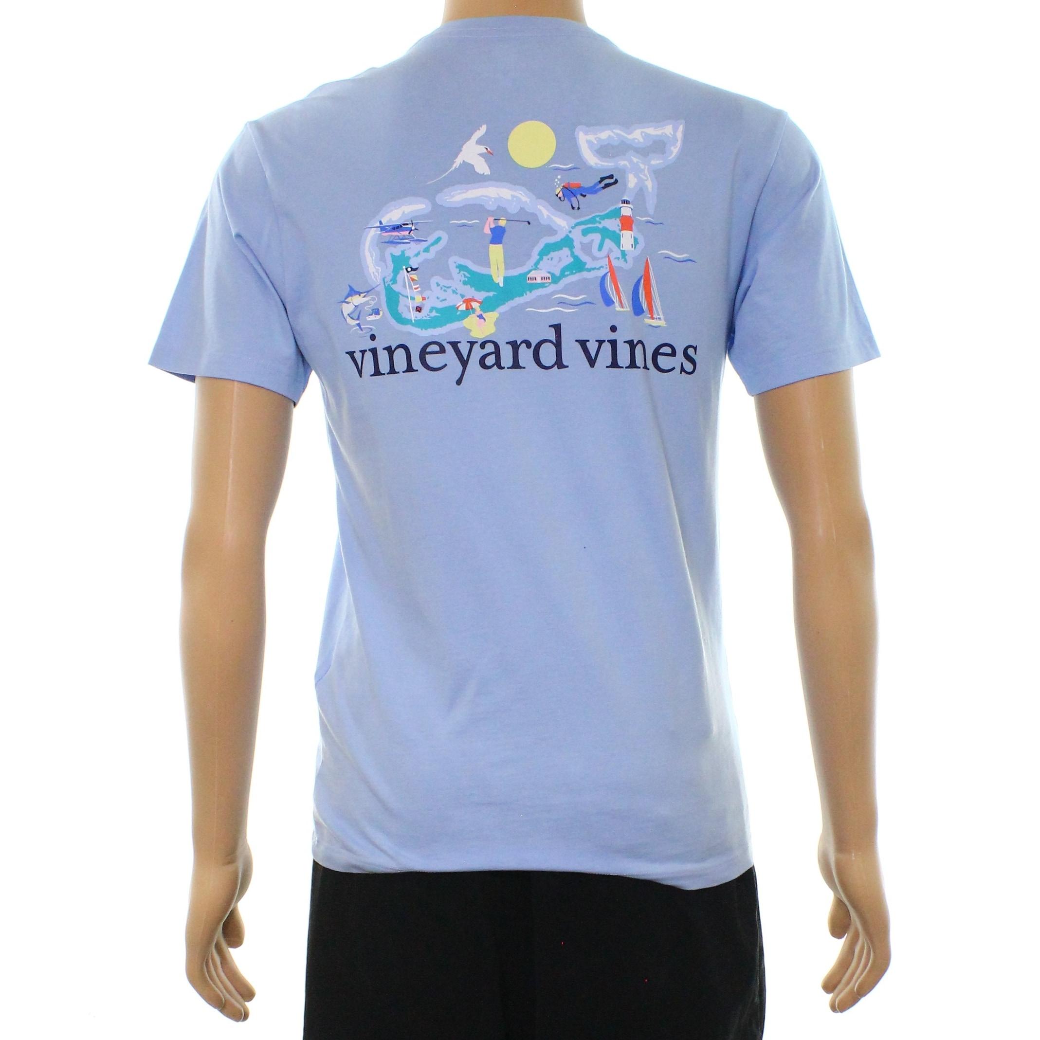 Shop Vineyard Vines Blue Mens Size Xs Bermuda Whale Graphic Tee T