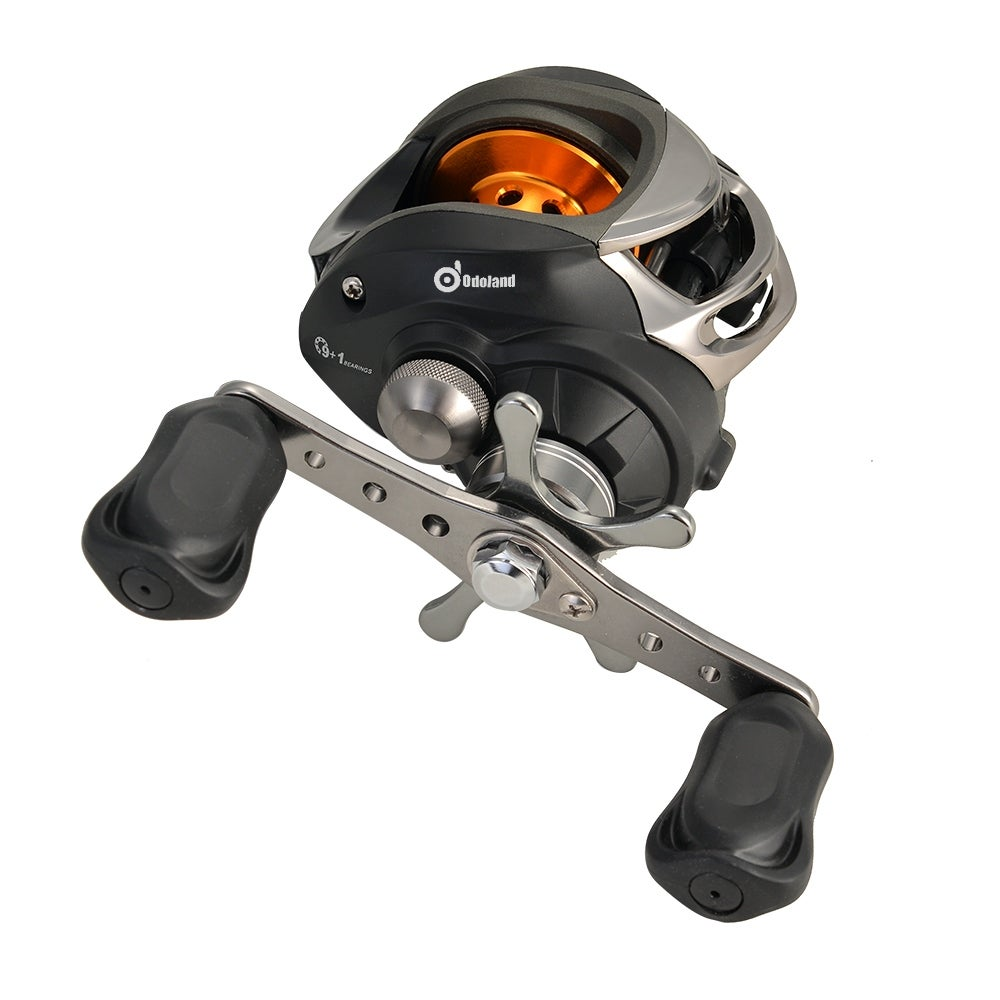 Shop 9 1BB 631 Ball Bearings Right Hand Level Wind Reel Bait Casting Fishing High Speed Black