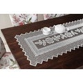 Table Runner Grega Design Brazilian Lace 19x62 Inches White Color 100 Percent Polyester