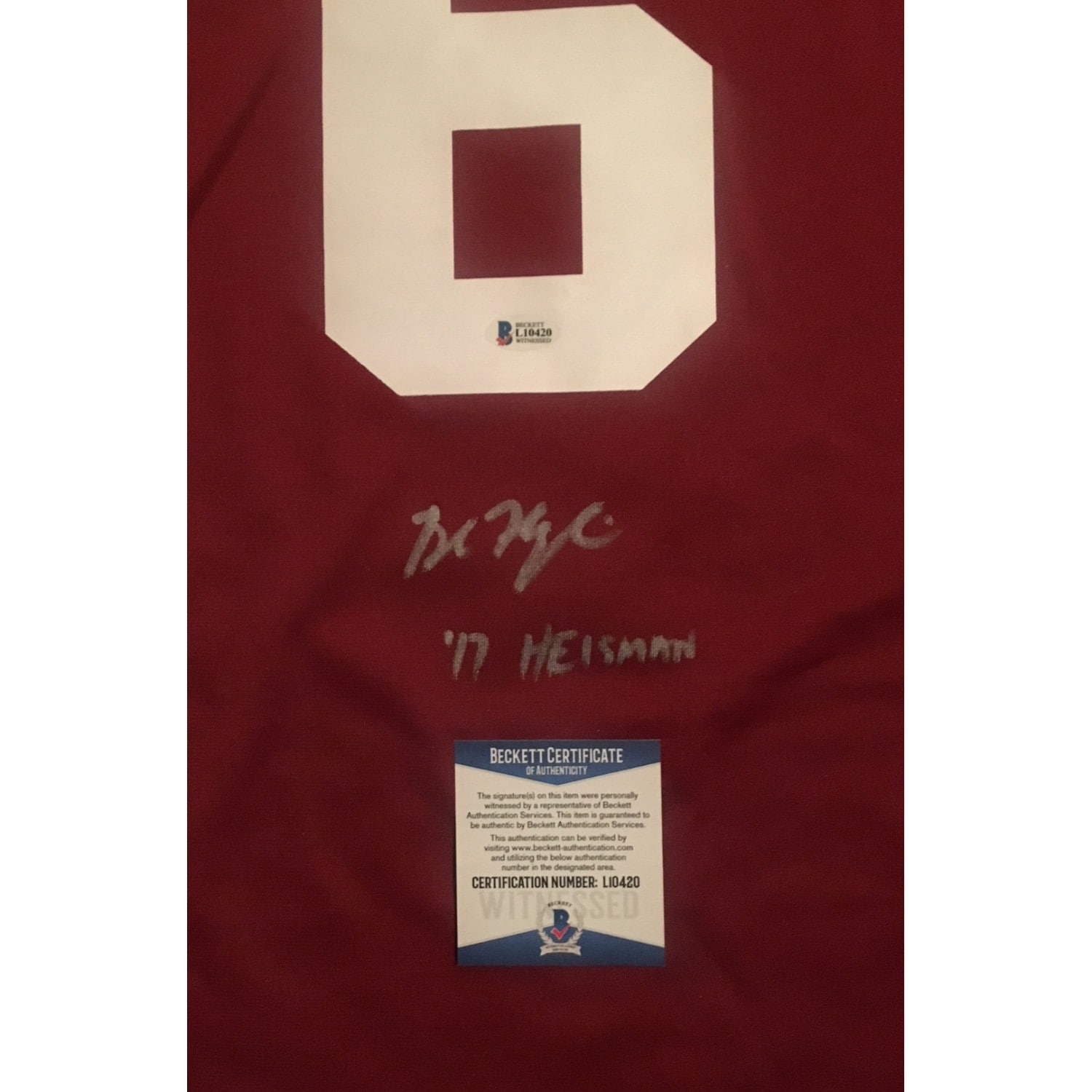 Shop Baker Mayfield Autographed Oklahoma Sooners 2017 Heisman Trophy Signed  Nike Football Jersey Beckett - Free Shipping Today - Overstock - 22390300 6bf25f418