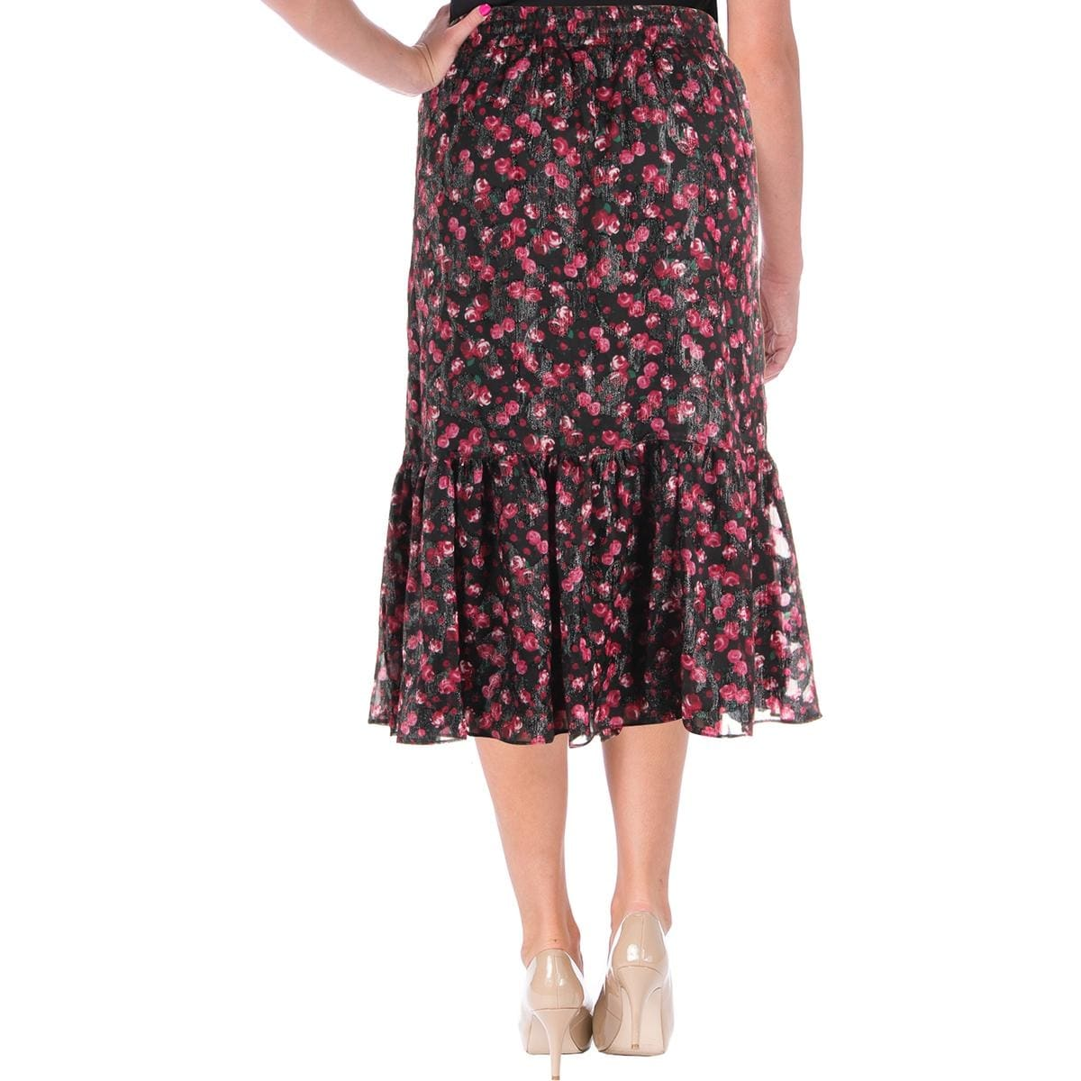 f56147b988 Shop Lauren Ralph Lauren Womens Flounce Skirt Metallic Floral Print - S -  Free Shipping On Orders Over $45 - Overstock - 23512054