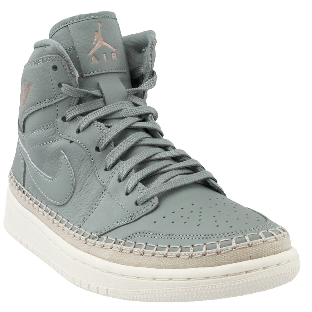fa4ca4dbb8e0 Shop Nike Womens Air Jordan 1 Retro High Premium Athletic   Sneakers ...