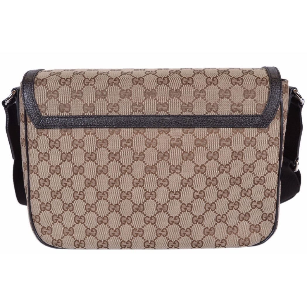80a2e59c50c Shop Gucci 449171 9886 GG Guccissima Canvas Large Crossbody Messenger Bag  Purse - Beige Brown - On Sale - Free Shipping Today - Overstock - 18106228