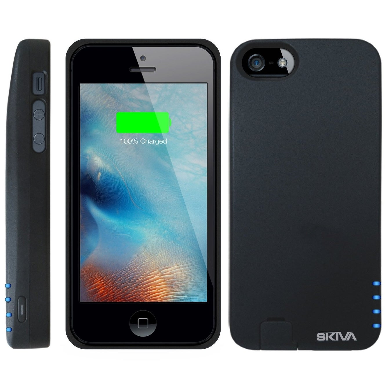 size 40 f2022 b1764 Skiva PowerFlow 2000mAh iPhone SE / 5s / 5 Protective Battery Case External  Rechargeable Portable Power Bank Pack Charger Cover