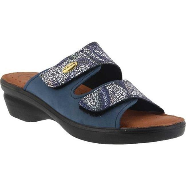 73aea6fcb3c Shop Flexus by Spring Step Women s Kina Slide Sandal Blue Multi ...