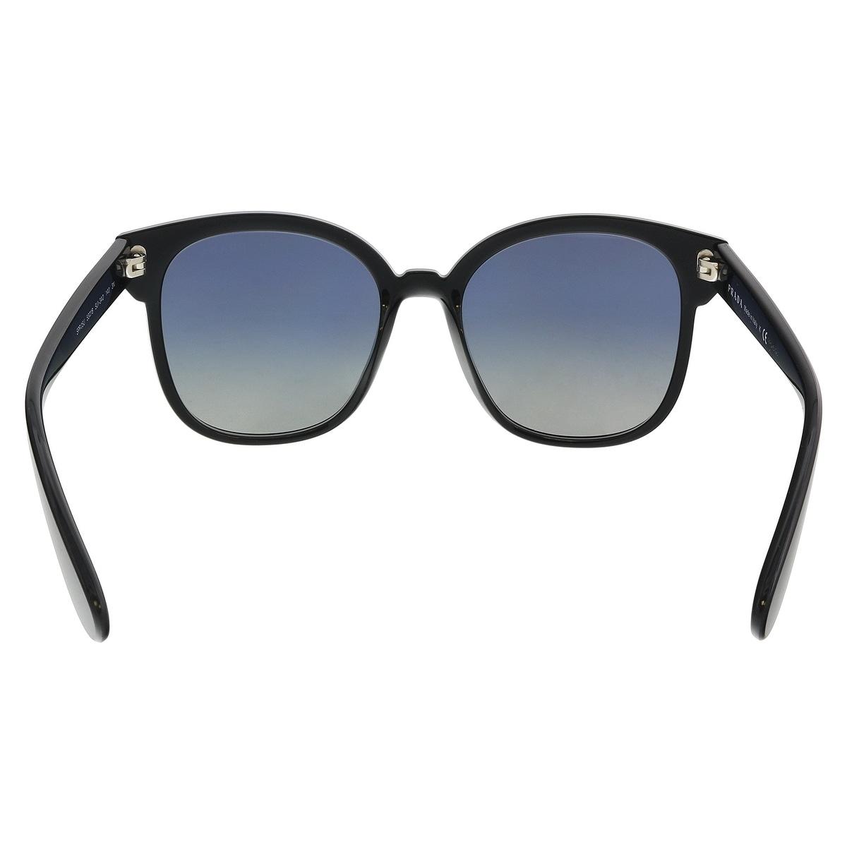 39cb0035d4d8 ... uk shop prada pr 05us sui3a0 black blue yellow square sunglasses 53 18  140 free shipping
