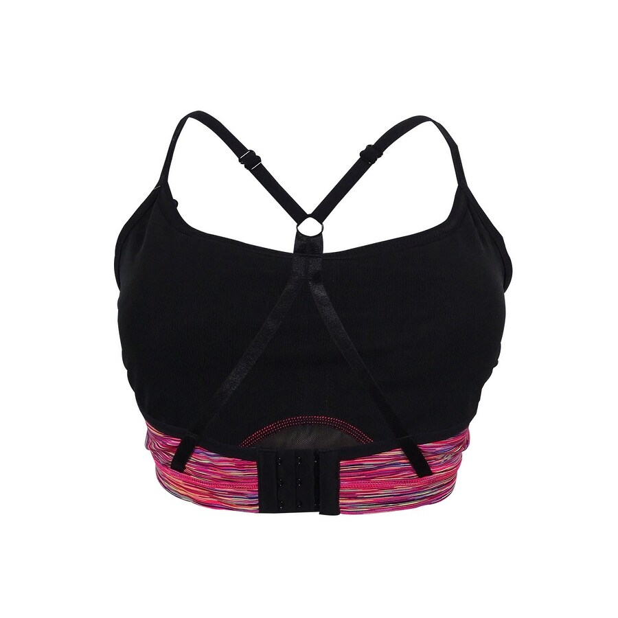 f2a4d8bc304ca Shop Ideology Women s Mesh Inset Sports Bra - Fall Multi - M - Free  Shipping On Orders Over  45 - Overstock - 16805510