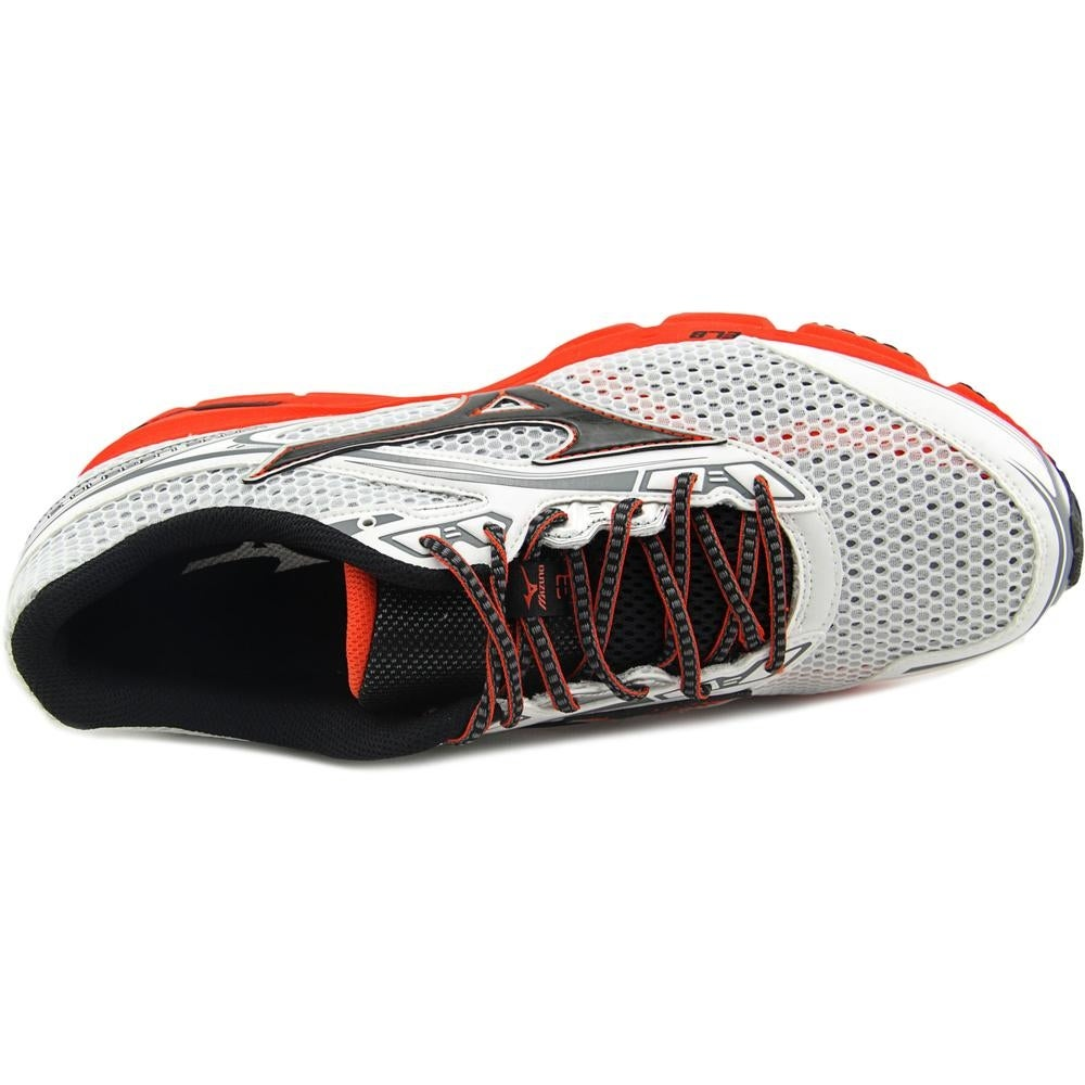 huge selection of 009a5 14f6f Shop Mizuno Wave Legend 3 Men White Red Black Running Shoes - Free Shipping  On Orders Over  45 - Overstock - 13695165