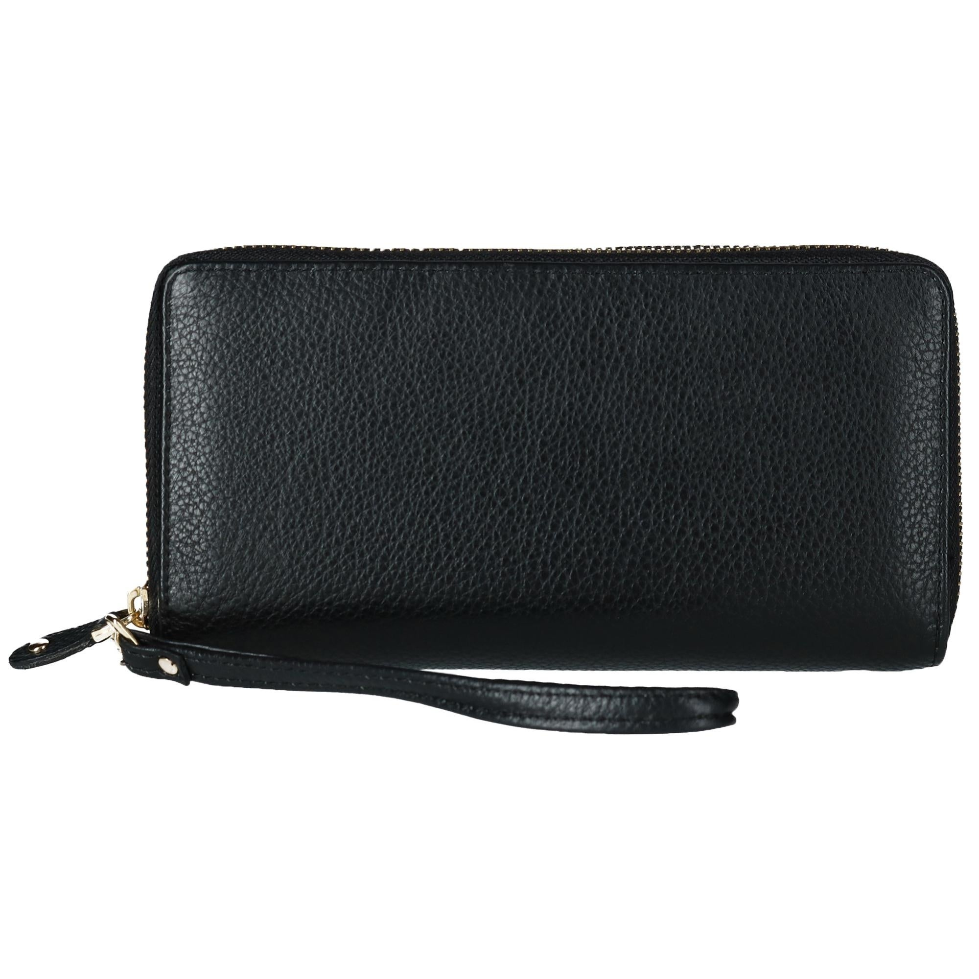 f8a7d643cad5 Shop Ctm Women S Leather Zip Around Wallet With Brass Hardware