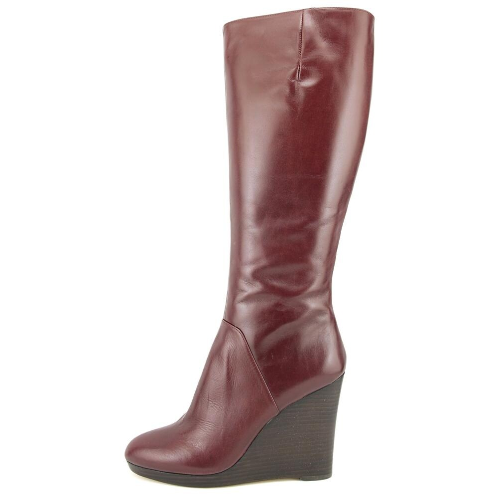 d79a9111b5b Shop Nine West Harvee Women Round Toe Leather Burgundy Knee High Boot -  Free Shipping Today - Overstock - 17995778