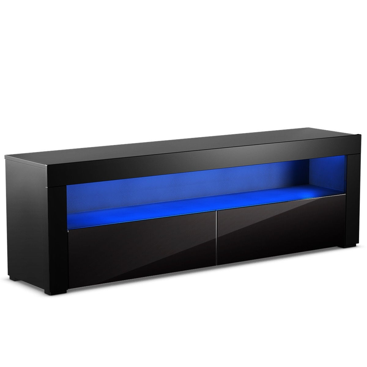 Shop Costway High Gloss Tv Stand Unit Cabinet Console Furniture W